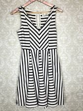 13262da1d1a27 Anthropologie Saturday Sunday Striped Jersey Knit Dress Black Oatmeal Sz  Small