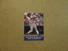 Richmond Braves Vintage 1997 Baseball Pocket Schedule