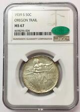 1939-S 50C Oregon Trail Silver Commemorative MS 67 NGC & CAC