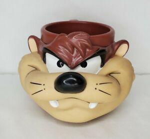 Vintage 90s Tasmanian Devil Mug TAZ Looney Tunes Plastic Cup 1993 Warner Bros