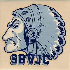 San Bernardino Valley Junior College Indians ORIG 1950s Decal Sticker Wolverines