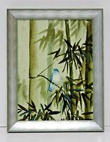Oil Painting Bird 12 x 16 Art Oil Painting on Canvas w/Custom Frame