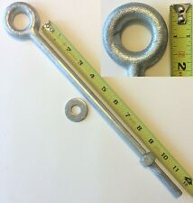 """Eye Bolt 1pc 1/2"""" x 12""""Drop Forged Galvanized EyeBolt for Batting Cage Cable Kit"""