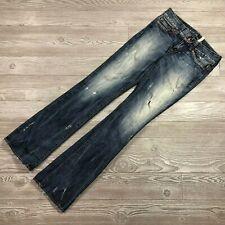 Guess Premium Daredevil Distressed Bootcut Jeans Women's 27 T86