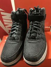 the latest 0648a ec4eb NIKE AIR FORCE 1 HI SE BLACK DARK GREY ATHLETIC WOMEN S US SIZE 11 Men 9.5