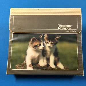 Vintage 80s Mead Trapper Keeper Notebook 3-Ring Binder Design Series Kittens A2