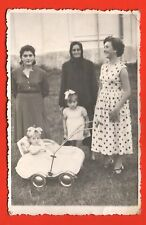 1940s Baby Stroller Two Sisters  Mother  And Orher  Relatives