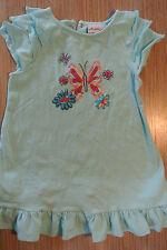 polkatots Girls Size 4T Light Blue Shirt Top Butterfly Buttons Ruffles *EUC*
