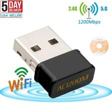 1200Mbps Mini USB Wifi Network Card Dual Band Wireless Adapter 2.4G/5.8G Dongle