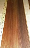 "Fumed Larch wood veneer 6"" x 20"" raw no backing 1/42"" thickness ""A"" grade sheet"