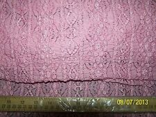Bubble Stretch Lace PINK Nylon/Spandex Fabric - 5 Yards! - NEW!