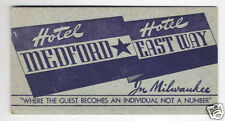 Vintage Hotel Medford East Way Milwaukee Ink Blotter