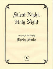 SILENT NIGHT, Christmas Carol, Music for Harp and Voice