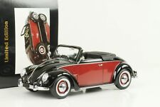 Volkswagen VW 1200 Hebmüller 1949 Convertible Con Techo Negro Rojo Oscuro 1:18