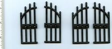 LEGO x 4 Black Door 1 x 4 x 9 Arched with Bars and Three Studs NEW