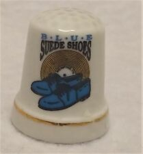 Lot of 2 Elvis Presley Blue Suede Shoes Porcelain Thimble
