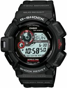 Casio G-Shock Mudman Compass Black Sports Watch G9300-1 New Without Tags