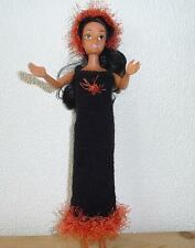 vêtement habits NEUFS poupée barbie robe longue et fourrure bandeau  créatrice