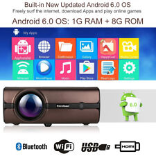 4K WiFi Wireless FHD 1080P Home Movie Theater 4000Lumen LED Projector HDMI 8GB