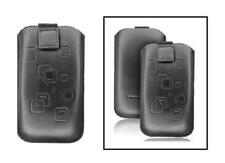 Housse Etui Cuir Noir ~ LG KC910 Renoir / KU990 Viewty / GT505 / GT500