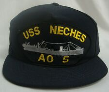 USS NECHES  AO-5  U.S NAVY SHIP MILITARY BALL CAP BASEBALL STYLE O/E WEARABLE