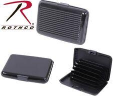 Black Aluminum Hard Case Bi-Fold Accordion ID Case & Credit Card Wallet 22101