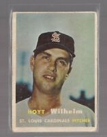 HOYT WILHELM Star MLB Pitcher HOF old vintage orig 1957 Topps Baseball Card 203