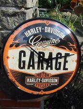 HARLEY-DAVIDSON Garage WALL CLOCK - Metal/Glas - Licensed ! NEW in sealed Box