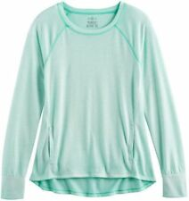 Girl's SO® Performance Long Sleeve Crew Tee Size: 7/8 Color: Mint Sorbet MSRP$28