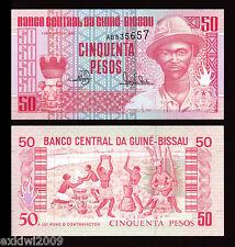 La Guinea-Bissau 50 PESOS 1990 P-10 MINT UNC banconote UNCIRCULATED