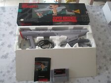 >> SUPER NES SUPER NINTENDO SNES SUPER SCOPE SUPERSCOPE 6 COMPLETE IN BOX! <<