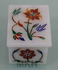 Jewelry box organizer hand made ring boxes earring marble inlay decor gifts