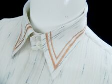 Il Canto Mens Italian Designer Button Front Crinkled Cotton Short Sleeve Shirt L
