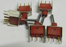 5 x C&K E101 miniature pcb toggle switch E101S single pole on-on