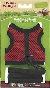 LIVING WORLD SMALL ANIMAL FABRIC HARNESS & LEAD SET MEDIUM (SUITS RATS AND FERRE
