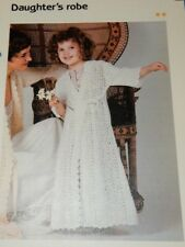 """Daughter's Robe ~ Girl's Lacy Bathrobe Quick 'n Easy Crochet pattern fits 22-28"""""""