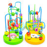 Children Baby Colorful Wooden Mini Around Beads Maze Track Educational Toy
