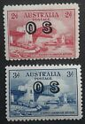 1932 Australia Set Sydney Harbour Bridge stamp OS Overprint Mint