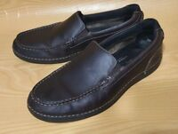 Rockport Adiprene Brown Leather Loafers Mens Shoes 9.5