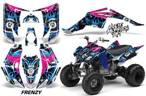 ATV Decal Graphic Kit Quad Sticker Wrap For Yamaha Raptor 350 2004-2014 FRENZY U