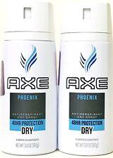 2 Count Axe 3.8 Oz Phoenix 48 Hour Protection Antiperspirant Dry Spray Exp 11/20