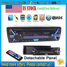 1 Din RDS Car Radio Stereo BT MP3 Player AM FM Detachable Panel AUX USB