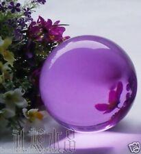 60MM Asian Rare Natural Quartz Purple Magic Crystal Healing Ball Sphere + Stand