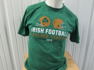 VINTAGE NOTRE DAME FIGHTING IRISH FOOTBALL MEDIUM T-SHIRT NWT GOLDEN TRADITION