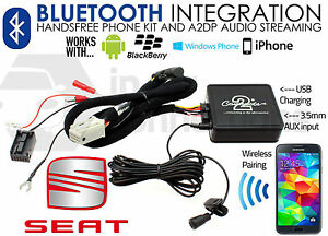 Seat Ibiza Bluetooth music streaming handsfree car AUX in 2008 - 2011 CTASTBT002