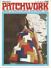 VINTAGE CROCHET PATTERN MOD DRESS IN PATCHWORK