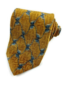 """Robert Talbott Best of Class Nordstrom Men's Neck Tie Gold/Blue 57-3/4"""" x 3-1/2"""""""