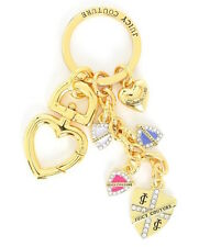 Juicy Couture Key Ring fob Purse Charm 4 Shields Puff Heart NEW