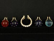 Wechselanhänger Brillant, Carneol, Amethyst, Aquamarin & Iolith   750/-Gelbgold