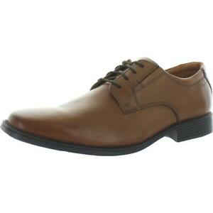 Clarks Men's Tilden Plain Leather Ortholite Formal Dress Oxford Derby